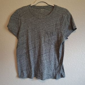 4/$25 Madewell Fitted Scoop Neck Pock T Shirt